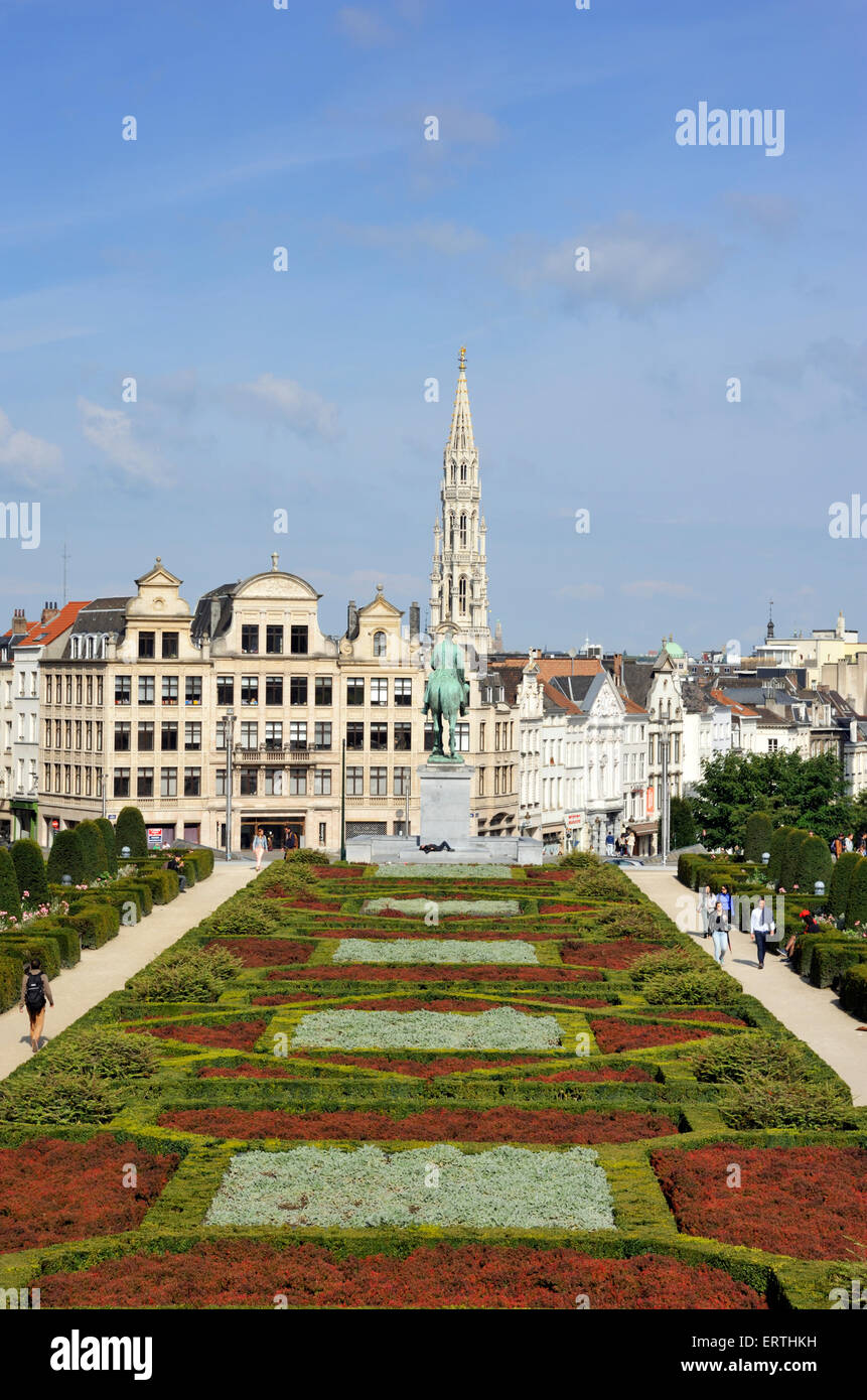 belgium, brussels, mont des arts Stock Photo