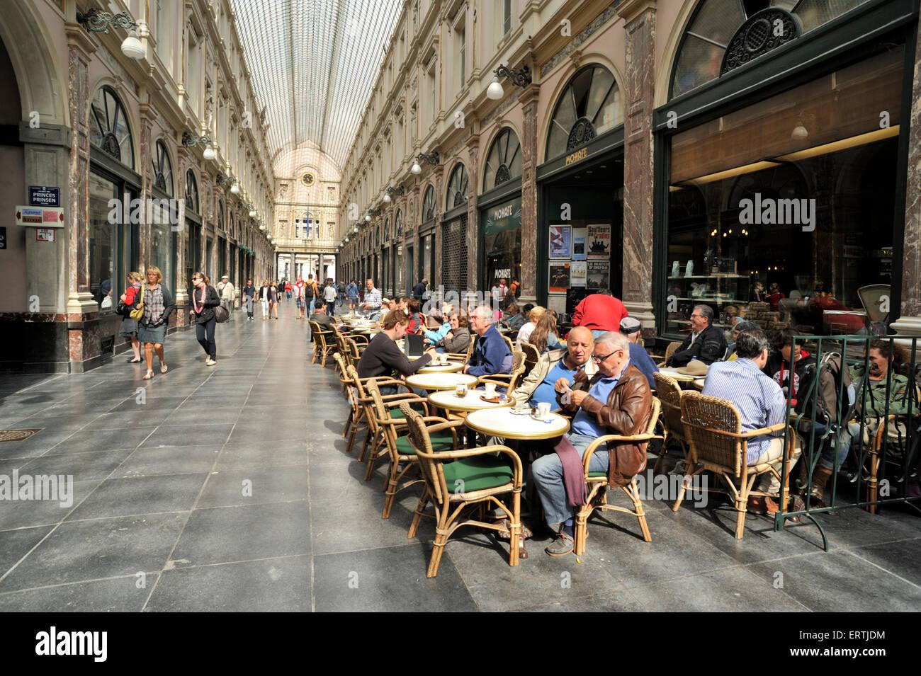 belgium, brussels, galeries saint-hubert - Stock Image