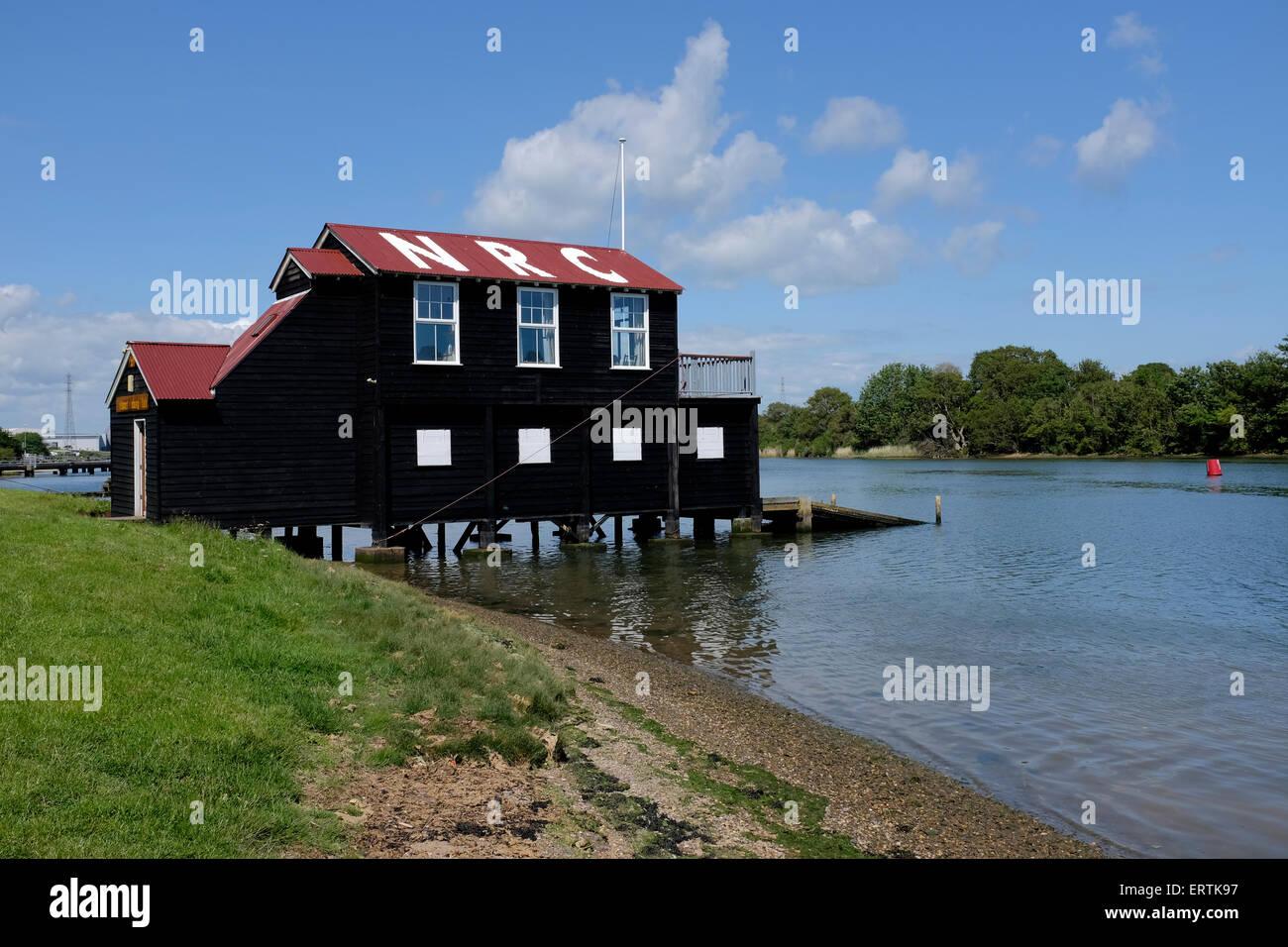River Medina Newport Rowing Club Isle of Wight England UK - Stock Image