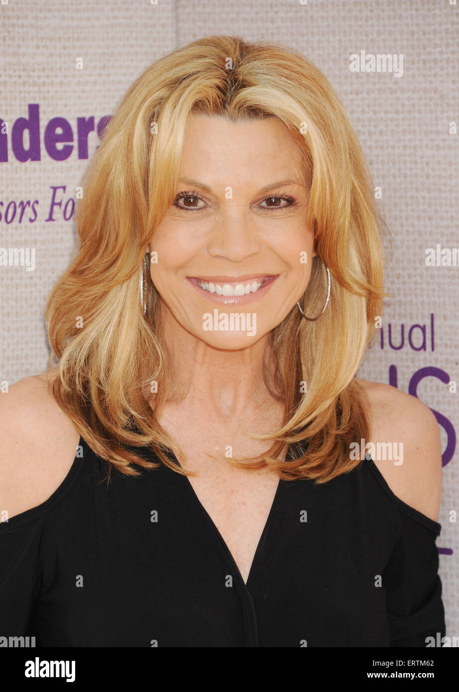 VANNA WHITE US TV personality in June 2015. Photo Jeffrey Mayer - Stock Image