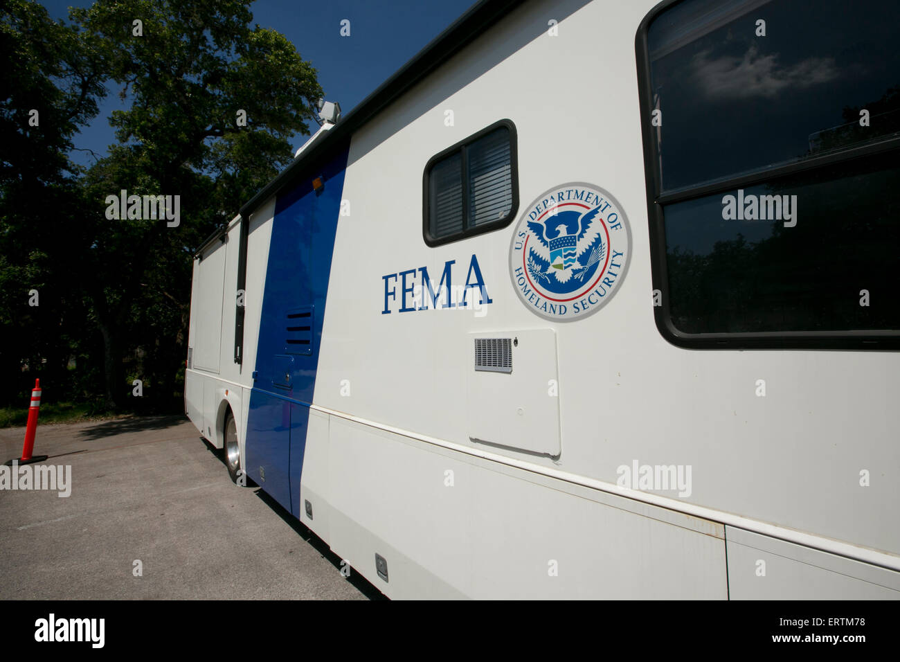 Mobile intake center in Wimberley, Texas - Stock Image