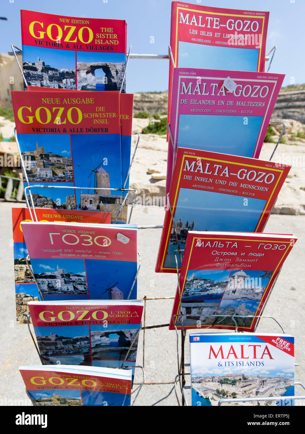 Guide Books to Malta and Gozo - Stock Image