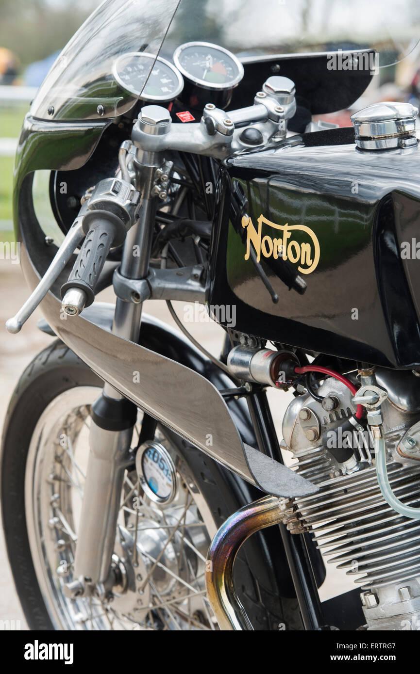 Norton 750cc Commando Cafe Racer Motorcycle Classic British Stock Photo Alamy