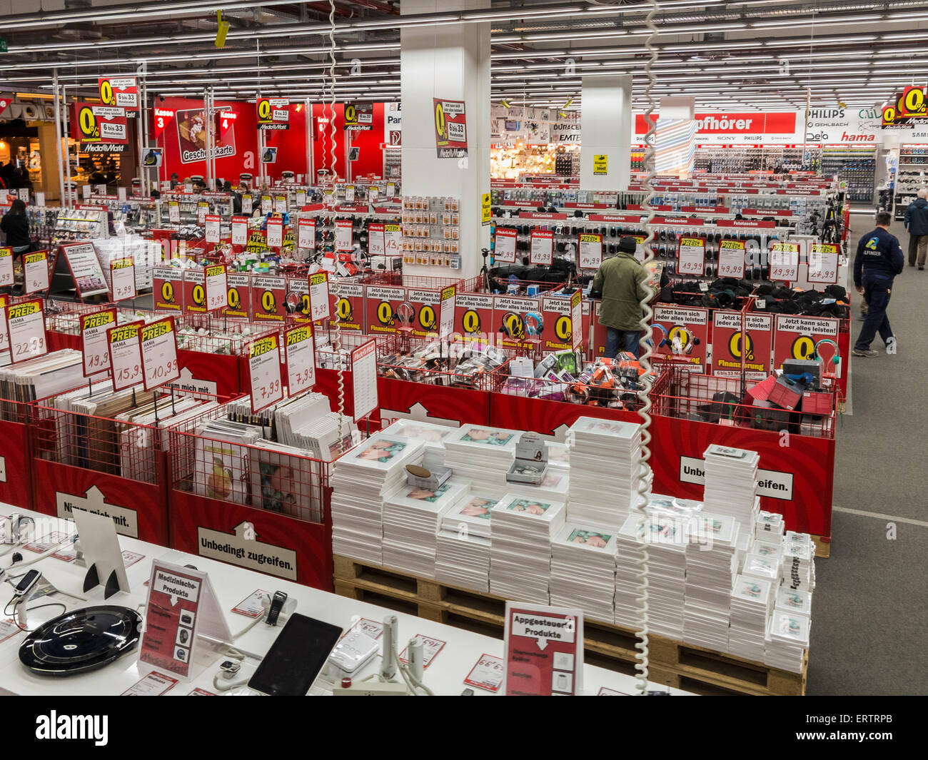 Inside a  Media Markt consumer electronics store in Germany, Europe - Stock Image