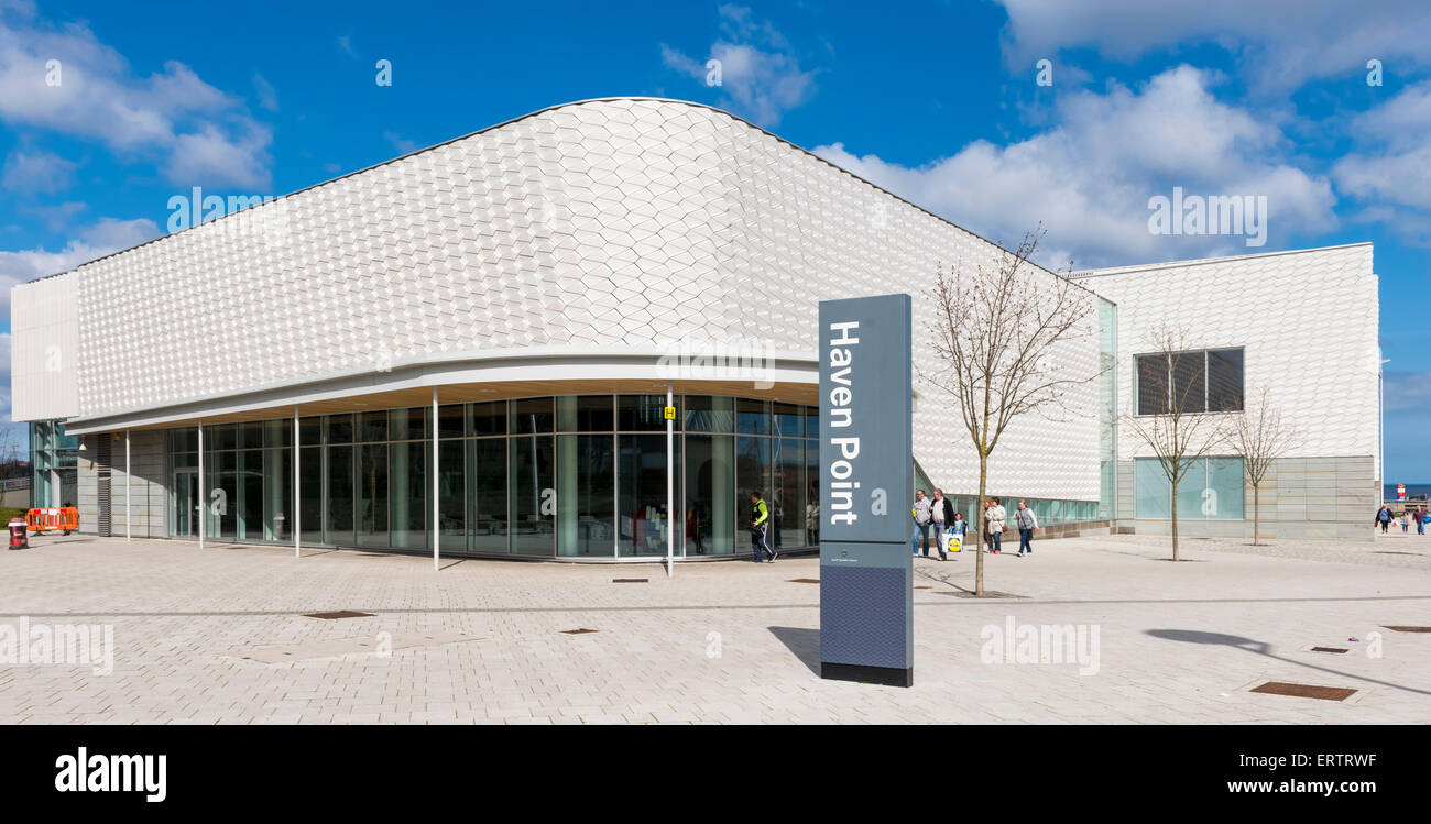 Haven Point, a new Leisure Centre on the seafront in South Shields, South Tyneside, England, UK, - Stock Image