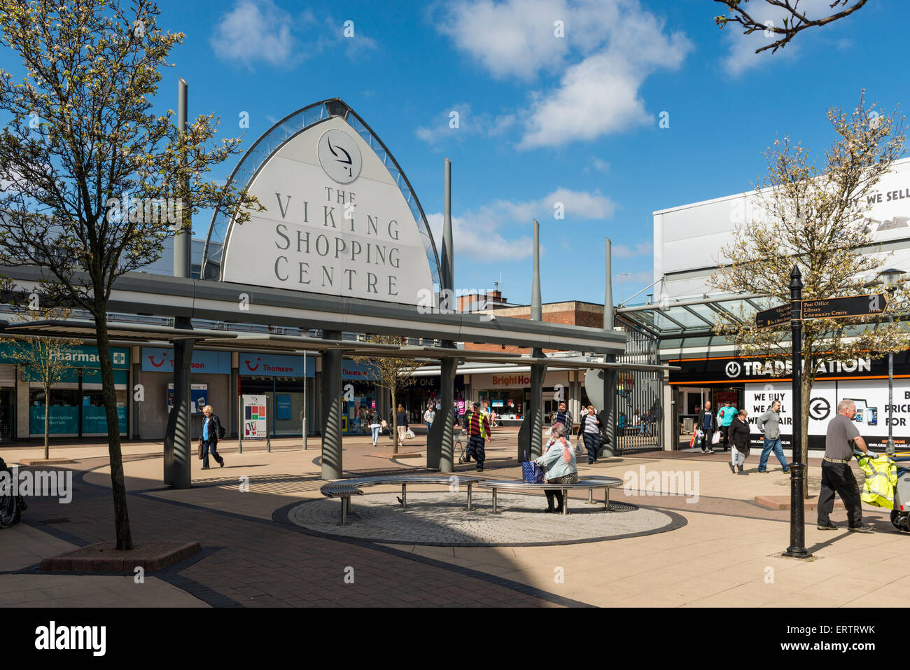 The Viking Shopping Centre, Jarrow, Tyne and Wear, England, UK - Stock Image