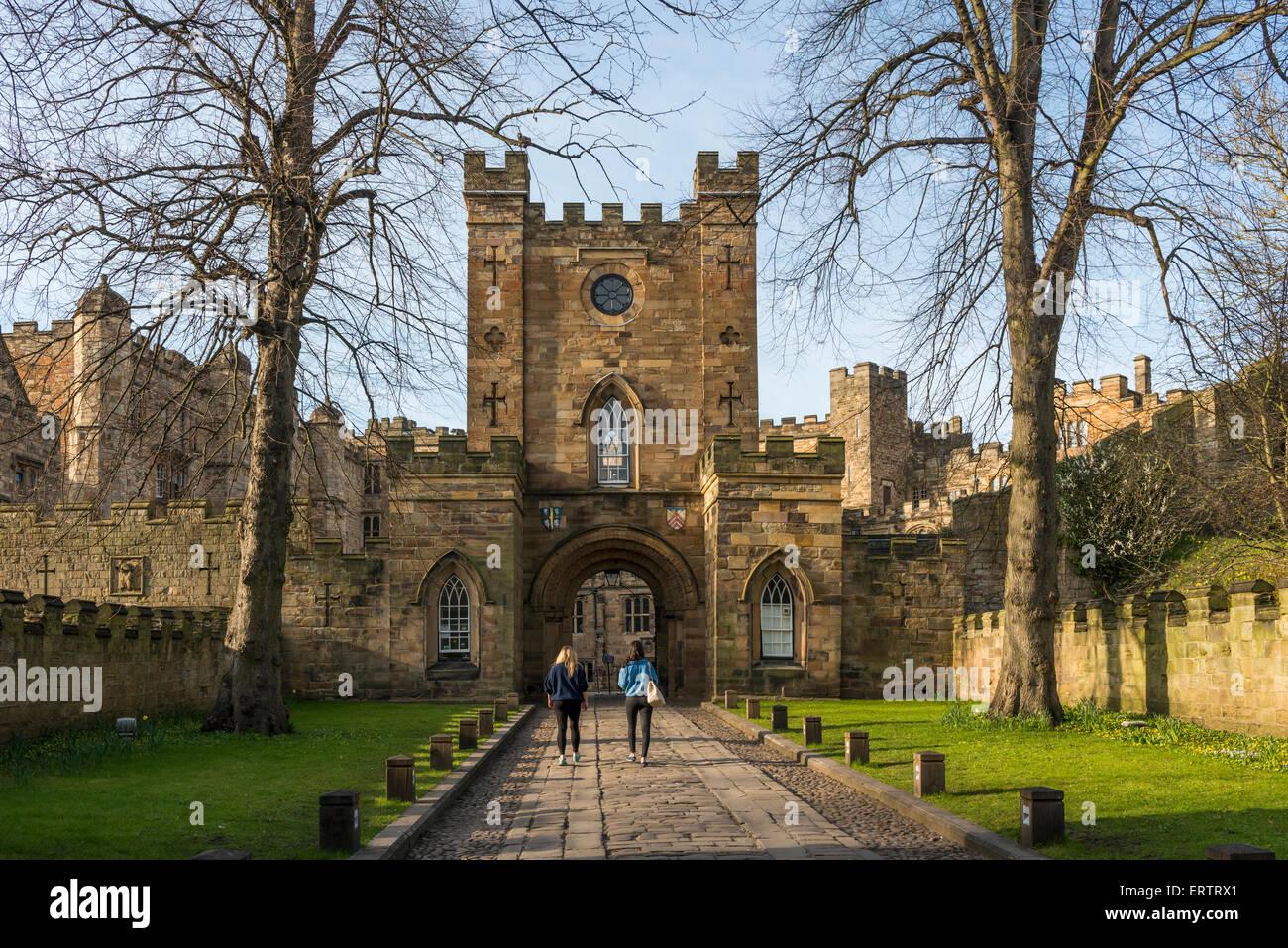 Durham Castle, now Durham University student accommodation, County Durham, England, UK - Stock Image