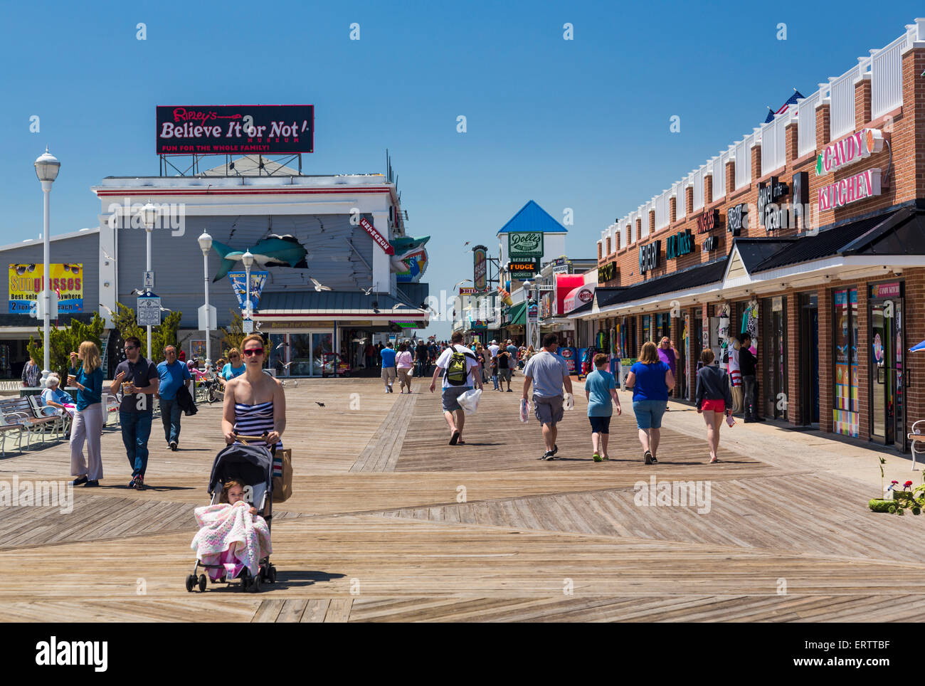 Ocean City, Maryland on the US East Coast, USA in summer - Stock Image