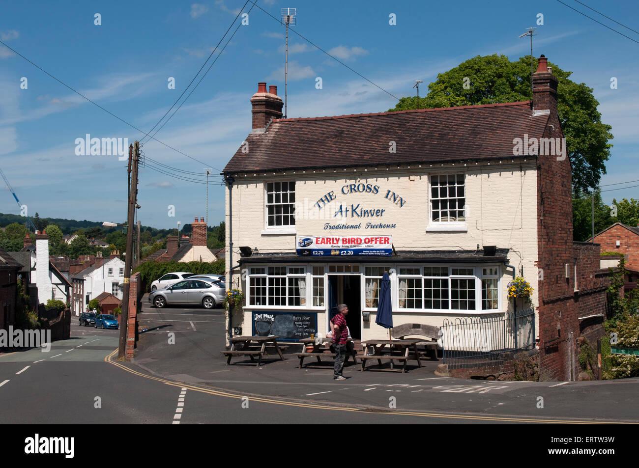 The Cross Inn, Kinver, Staffordshire, England, UK - Stock Image