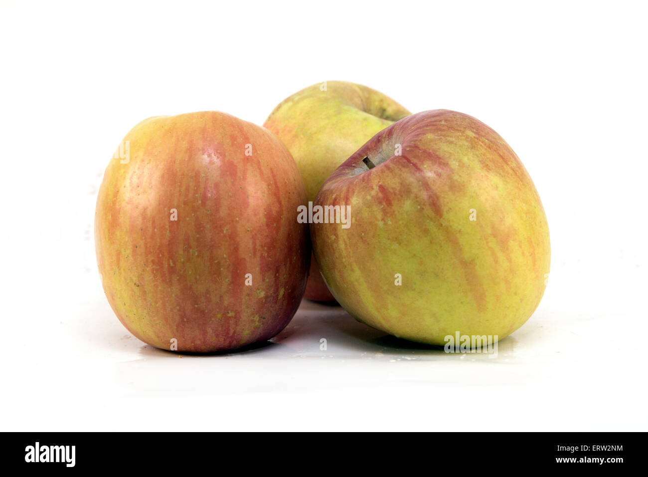 Trio of Fuji Apples - Stock Image