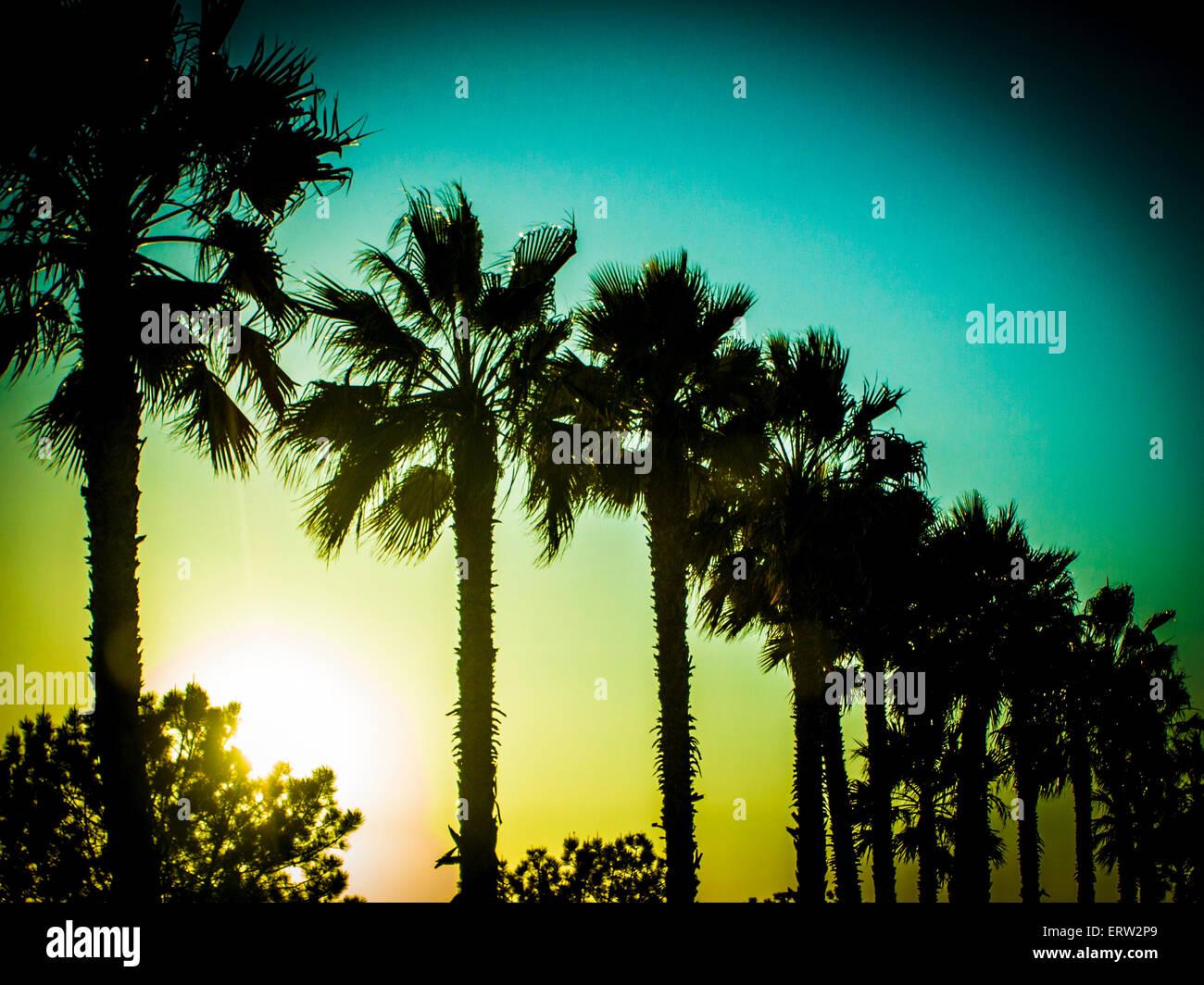 Tourism - San Diego Sun Set In Pacific Beach - Stock Image