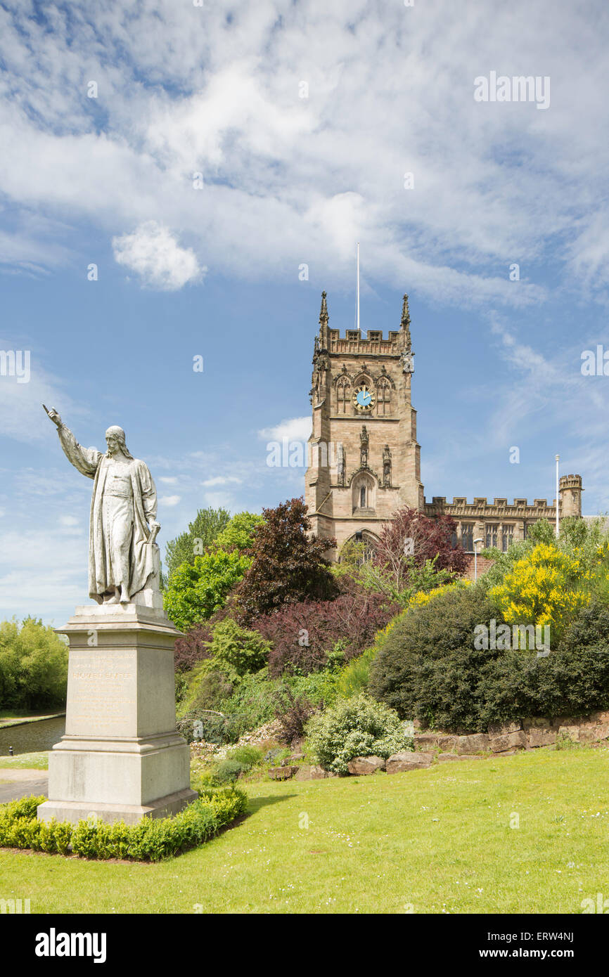 St Mary and All Saints' Church, Kidderminster, Worcestershire, England, UK - Stock Image