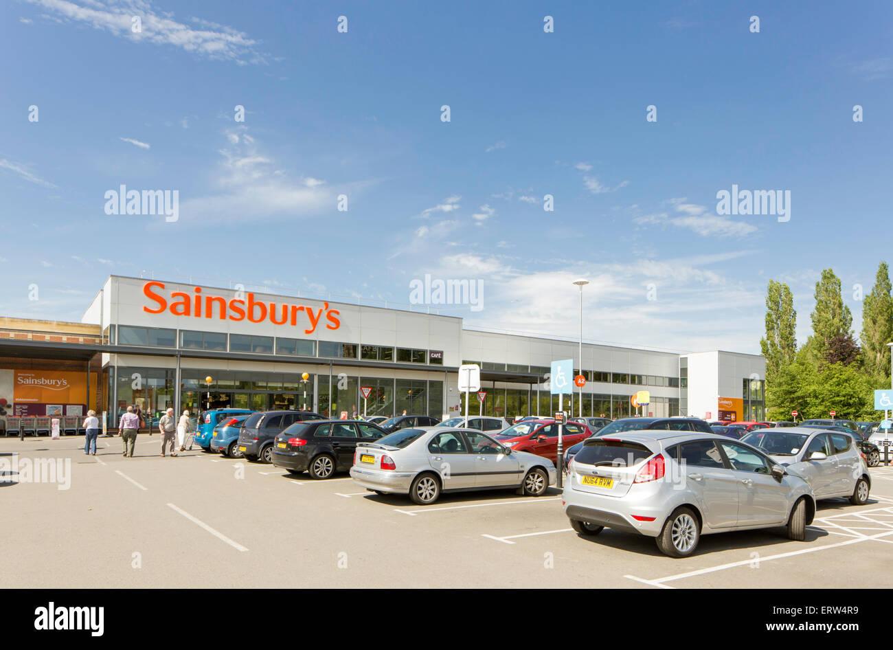 Sainsburys supermarket, Kidderminster, Worcestershire, England, UK - Stock Image