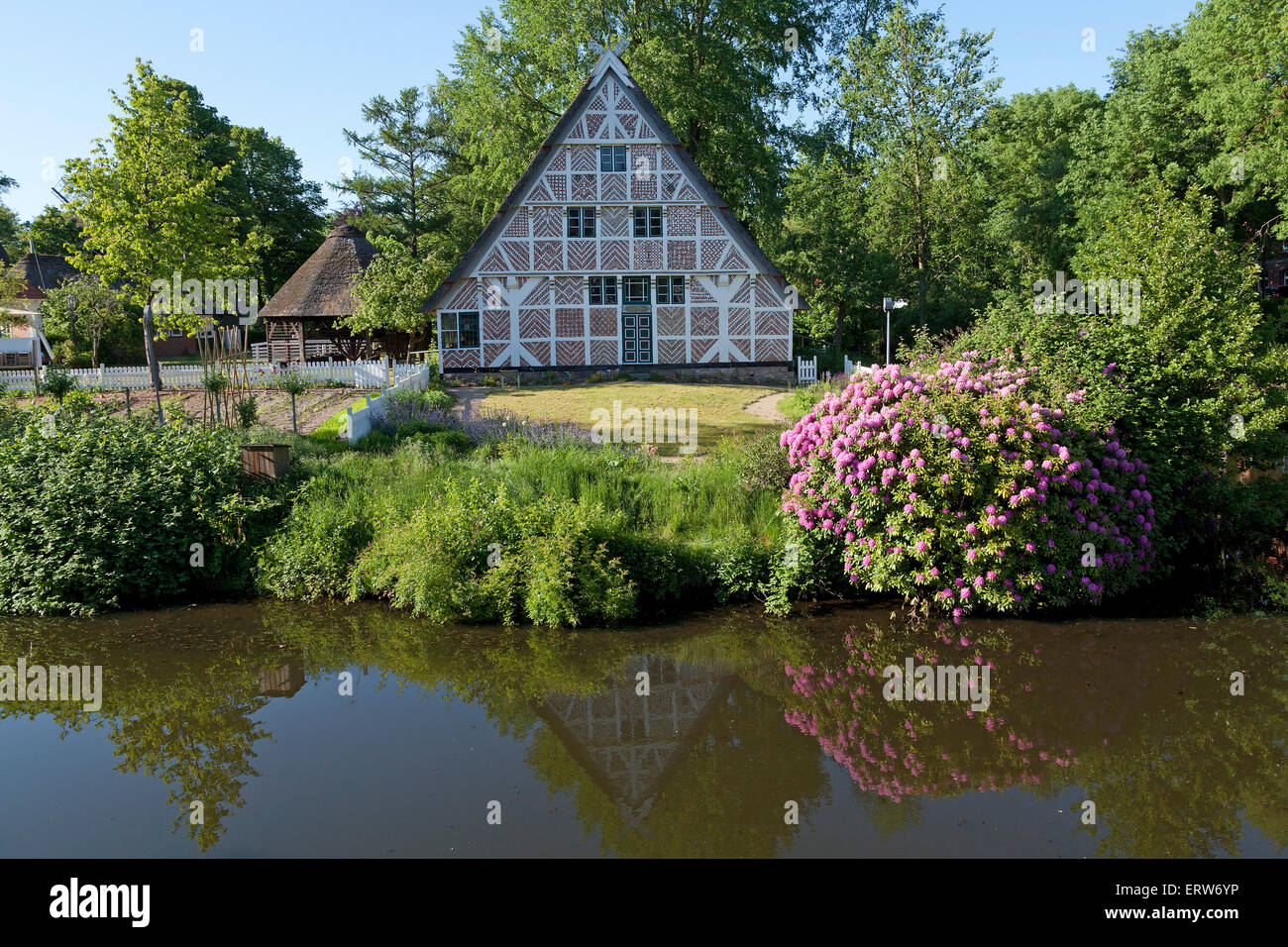 frame house, open-air museum, Stade, Lower Saxony, Germany - Stock Image