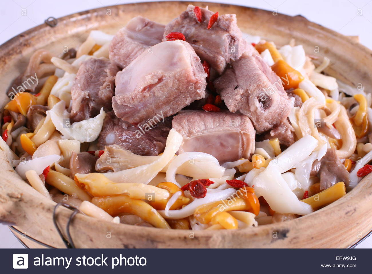 ribs mushroon soup - Stock Image