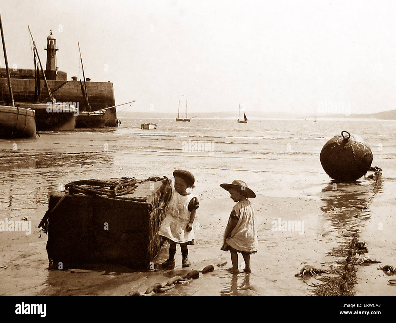 St. Ives Cornwall Victorian period - Stock Image