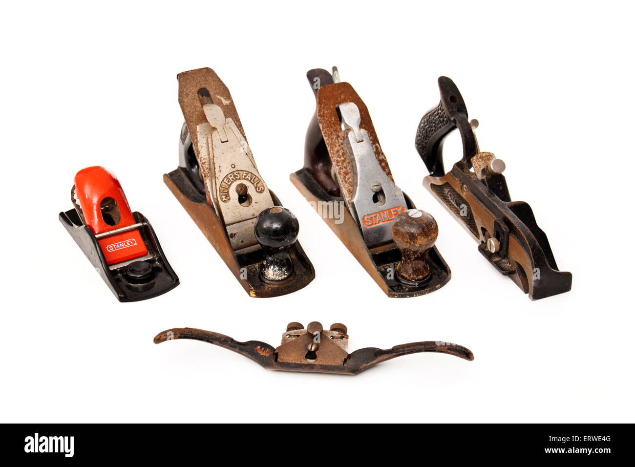 Selection Of Vintage Woodworking Planes By Stanley And Millers Falls
