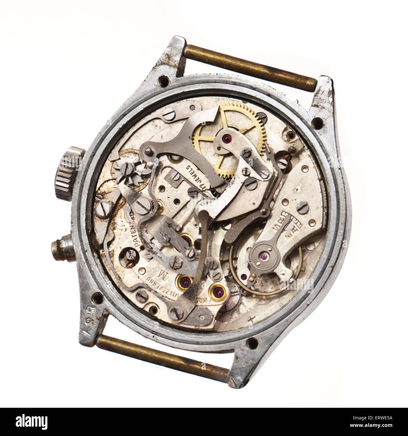 Vintage 1940's Swiss chronograph wristwatch by Pierce. - Stock Image