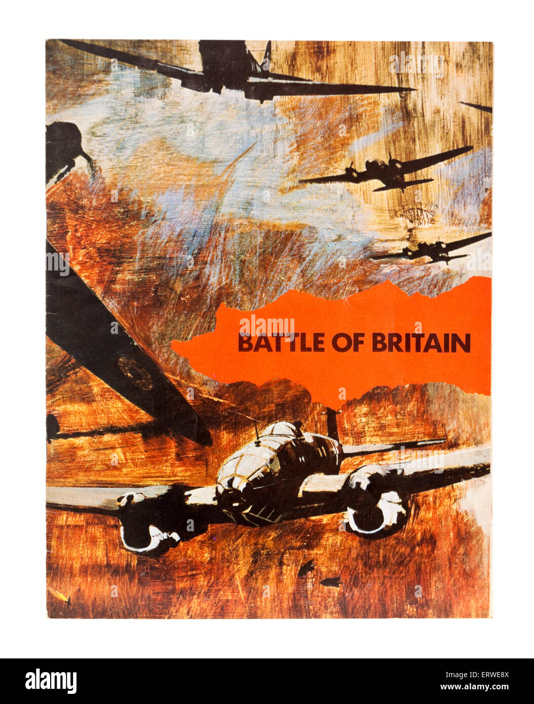 Vintage original cinema brochure for 'The Battle of Britain', a 1969 British Second World War film directed - Stock Image