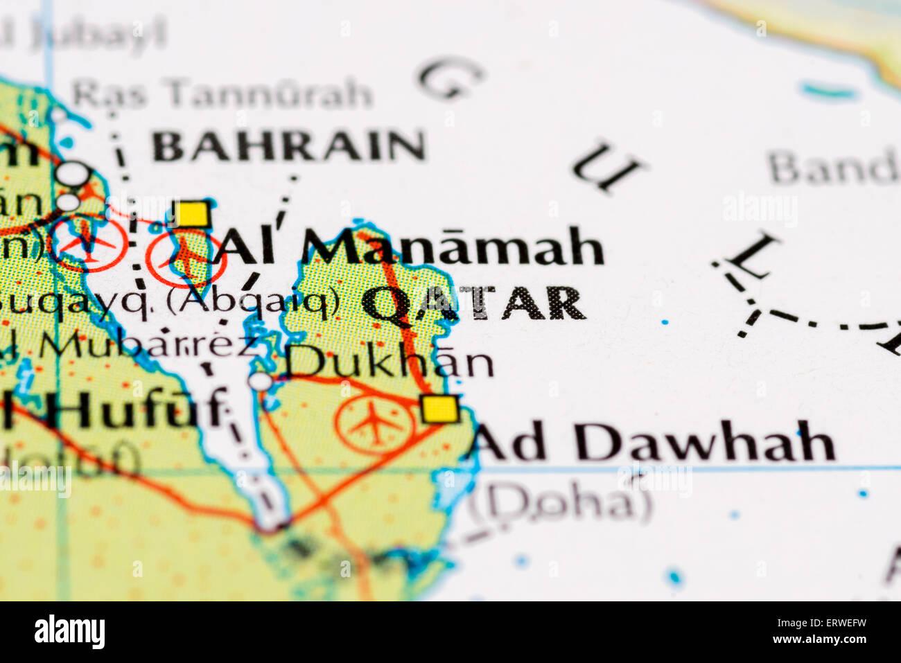 Map Of Qatar Stock Photos & Map Of Qatar Stock Images - Alamy In Doha Qatar Map World on world map brazil, world map uae, world map dubai, world map zaire, world map usa, world map congo, world map kenya, world map west africa, world map jordan, world map western samoa, world map italy, world map iran, world map hanoi vietnam, world map uk, world map malaysia, world map united arab emirates, world map saudi arabia, world map bahrain, world map australia, world map thailand,