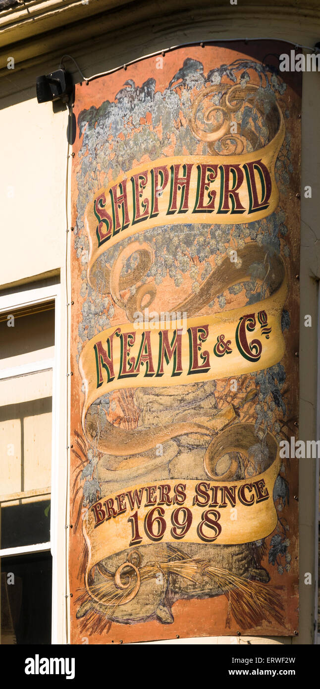 The Cricketers' Public House in Canterbury Kent owned by Shepherd Neame Brewery. - Stock Image