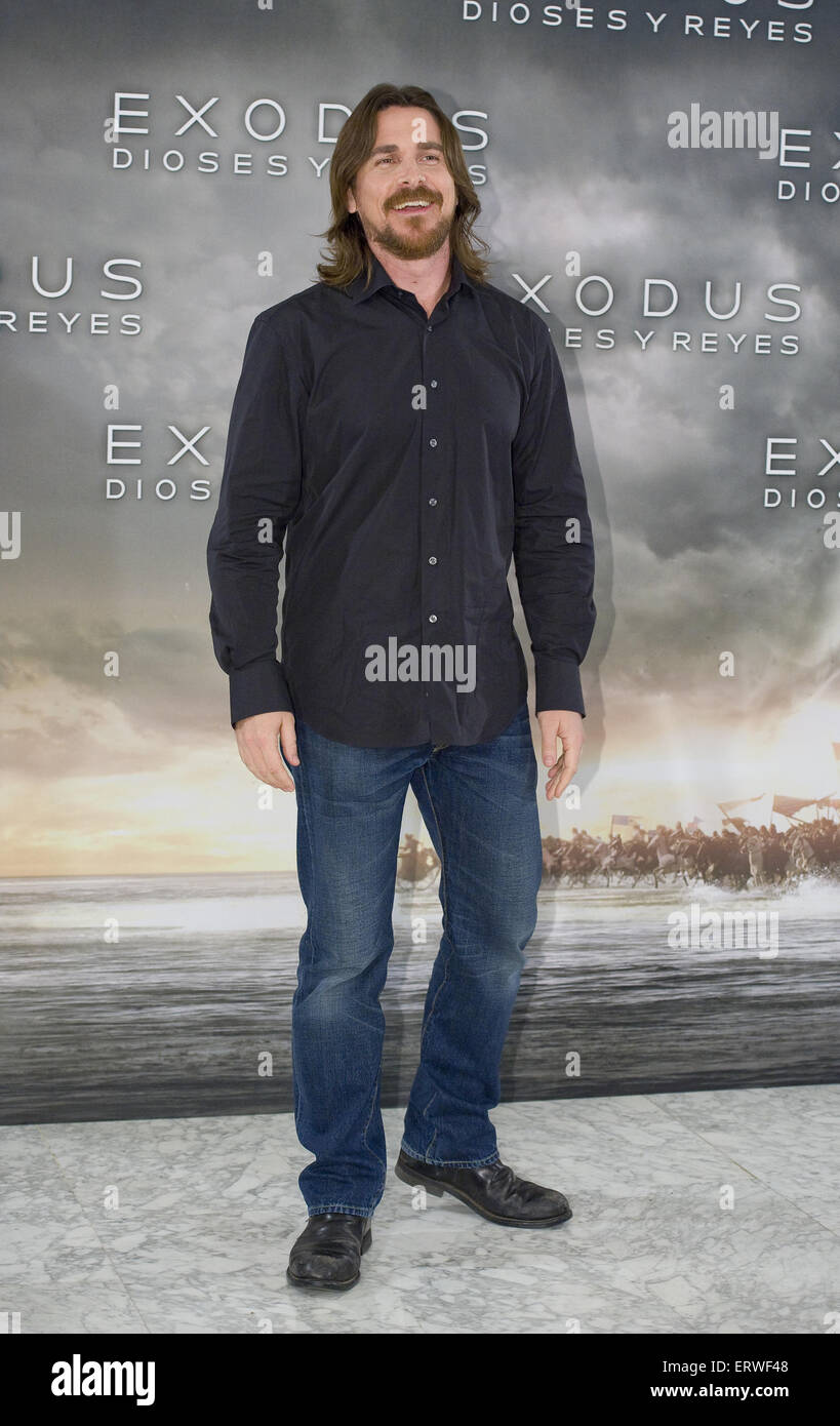 'Exodus: Gods and Kings' photocall at Hotel Villa Magna in Madrid  Featuring: Christian Bale Where: Madrid, - Stock Image