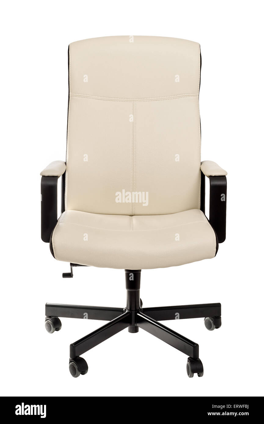 White Computer Chair Leather On A White Background