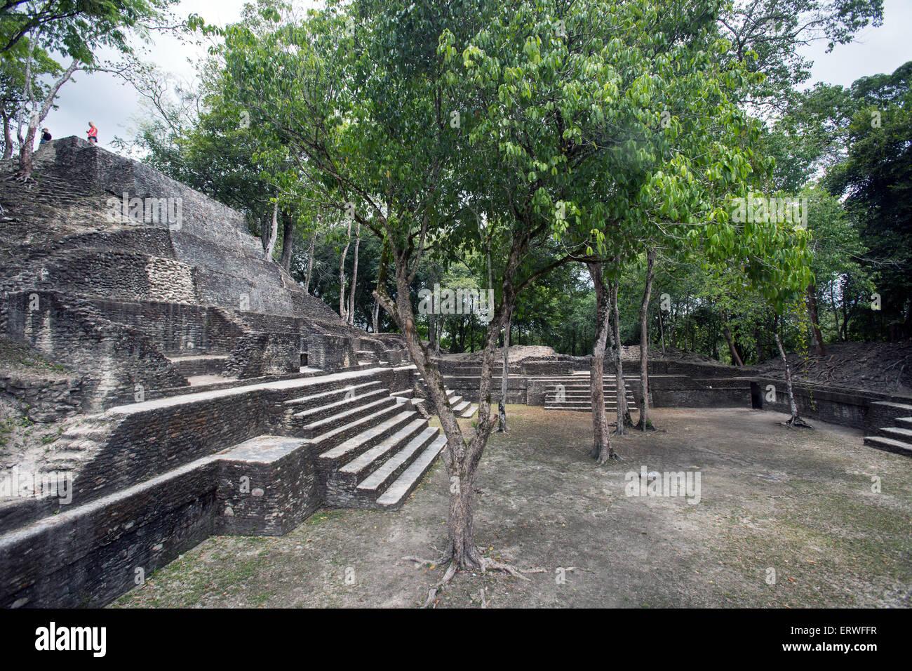 Cahal Pech Mayan ruins in the town of San Ignacio, Belize. - Stock Image