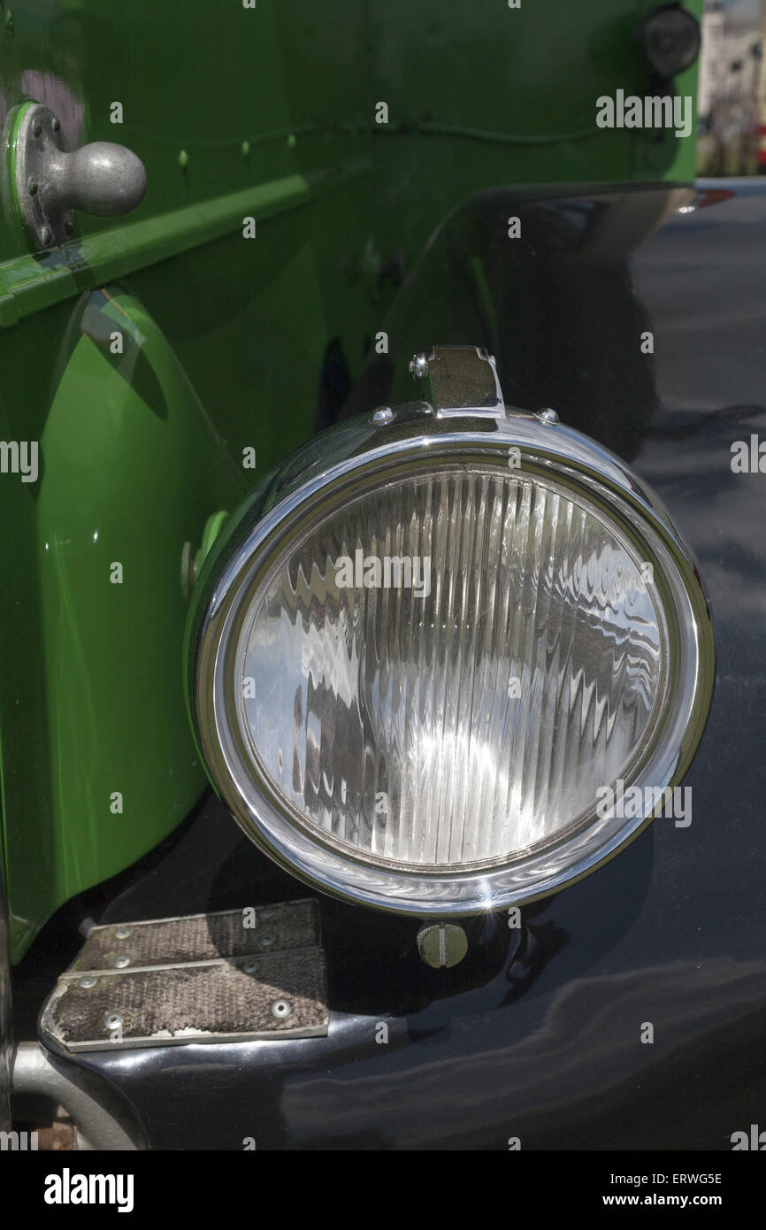 Detail of classic historic bus - Stock Image