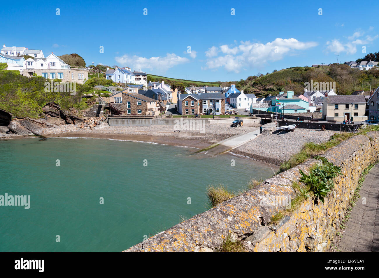Little Haven a  quaint  fishing village in the Pembrokeshire Coast National Park Wales UK - Stock Image