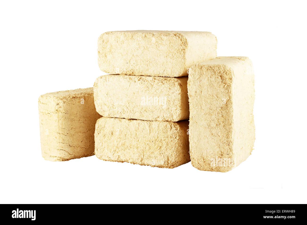 Wooden briquettes - Stock Image