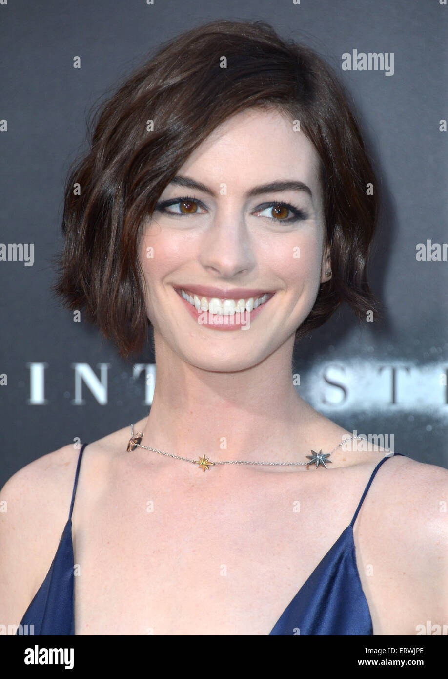 Actress Anne Hathaway, Los Angeles, CA - Stock Image