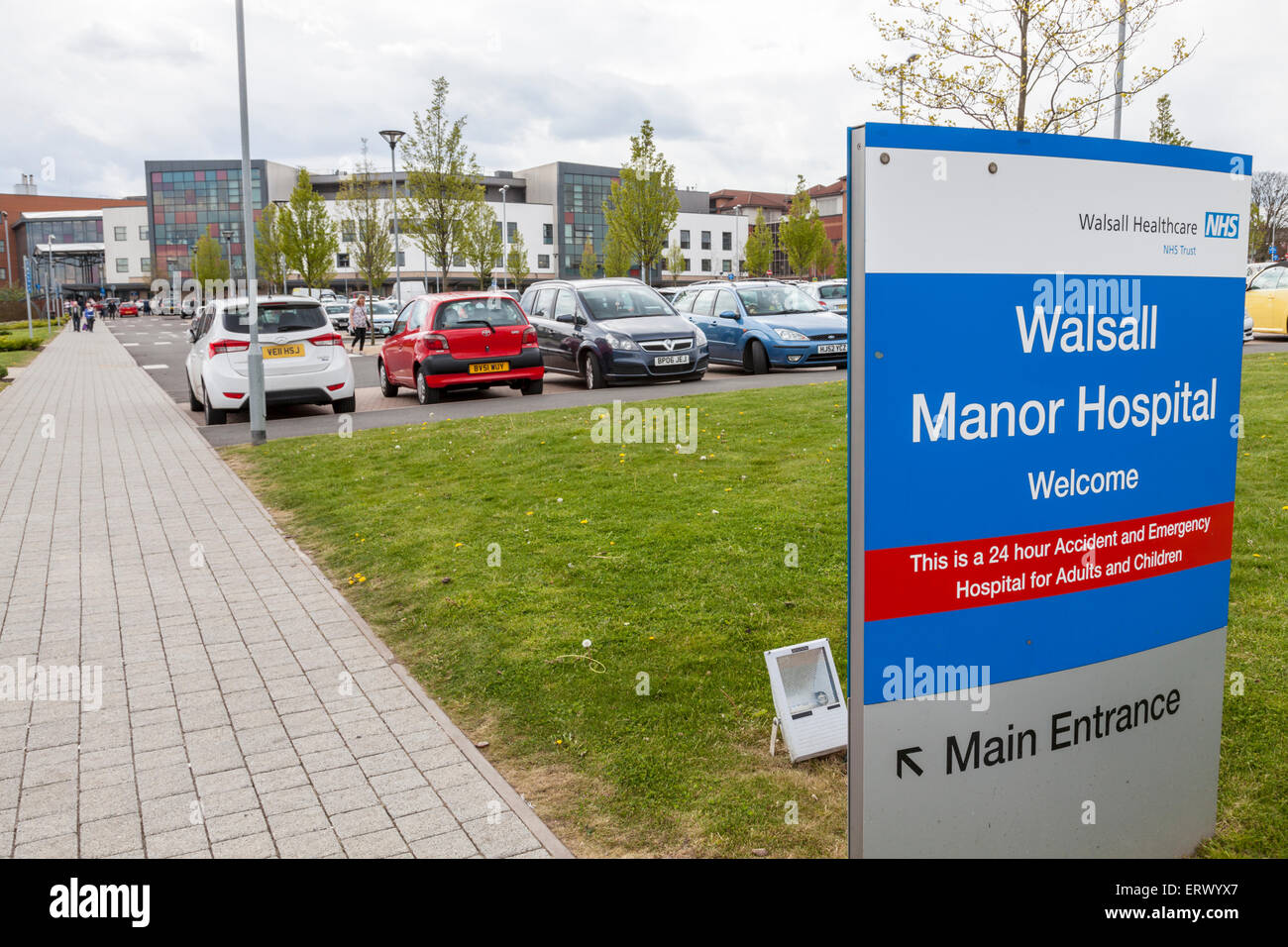 Walsall Manor Hospital, Walsall, West Midlands, England, UK - Stock Image