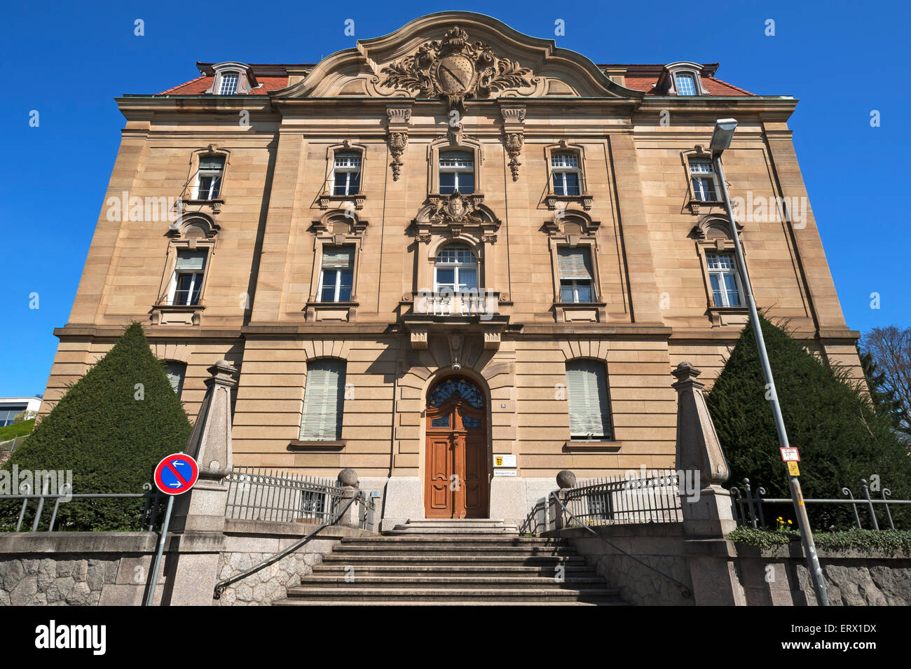 District Court, built from 1899 to 1902, Lahr, Baden-Württemberg, Germany - Stock Image