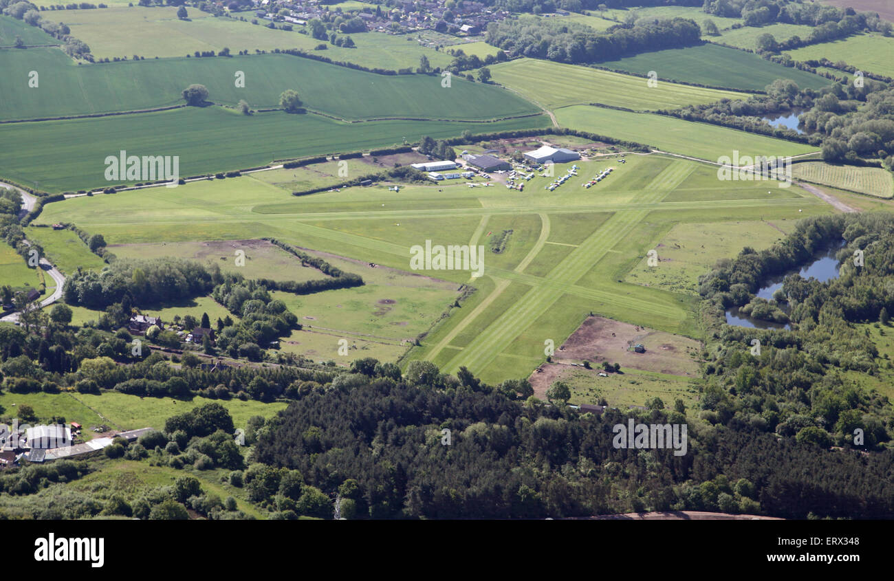 aerial view of Derby Airfield, UK - Stock Image