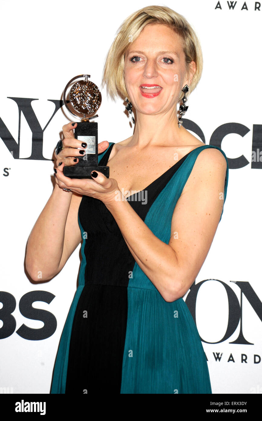 New York, USA. 07th June, 2015. Marianne Elliott attending the American Theatre Wing's 69th Annual Tony Awards - Stock Image