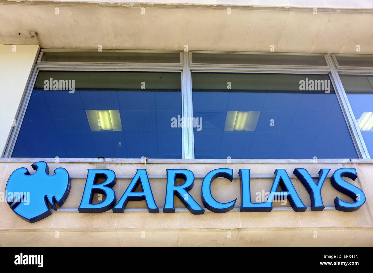 The sign for Barclays bank in the Clifton area of Bristol. - Stock Image