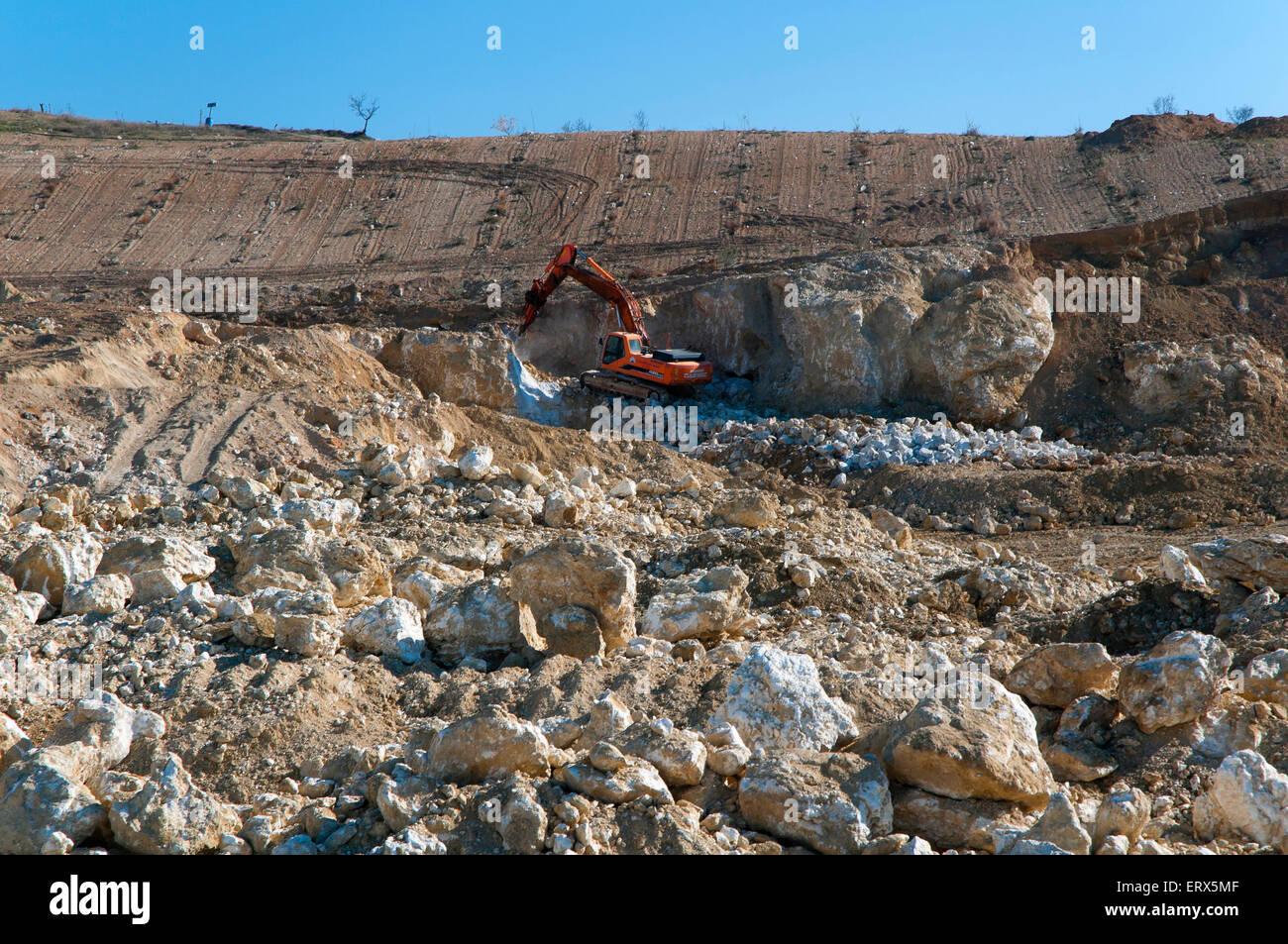 Celestine Mine, Escuzar, Granada province, Region of Andalusia, Spain, Europe - Stock Image