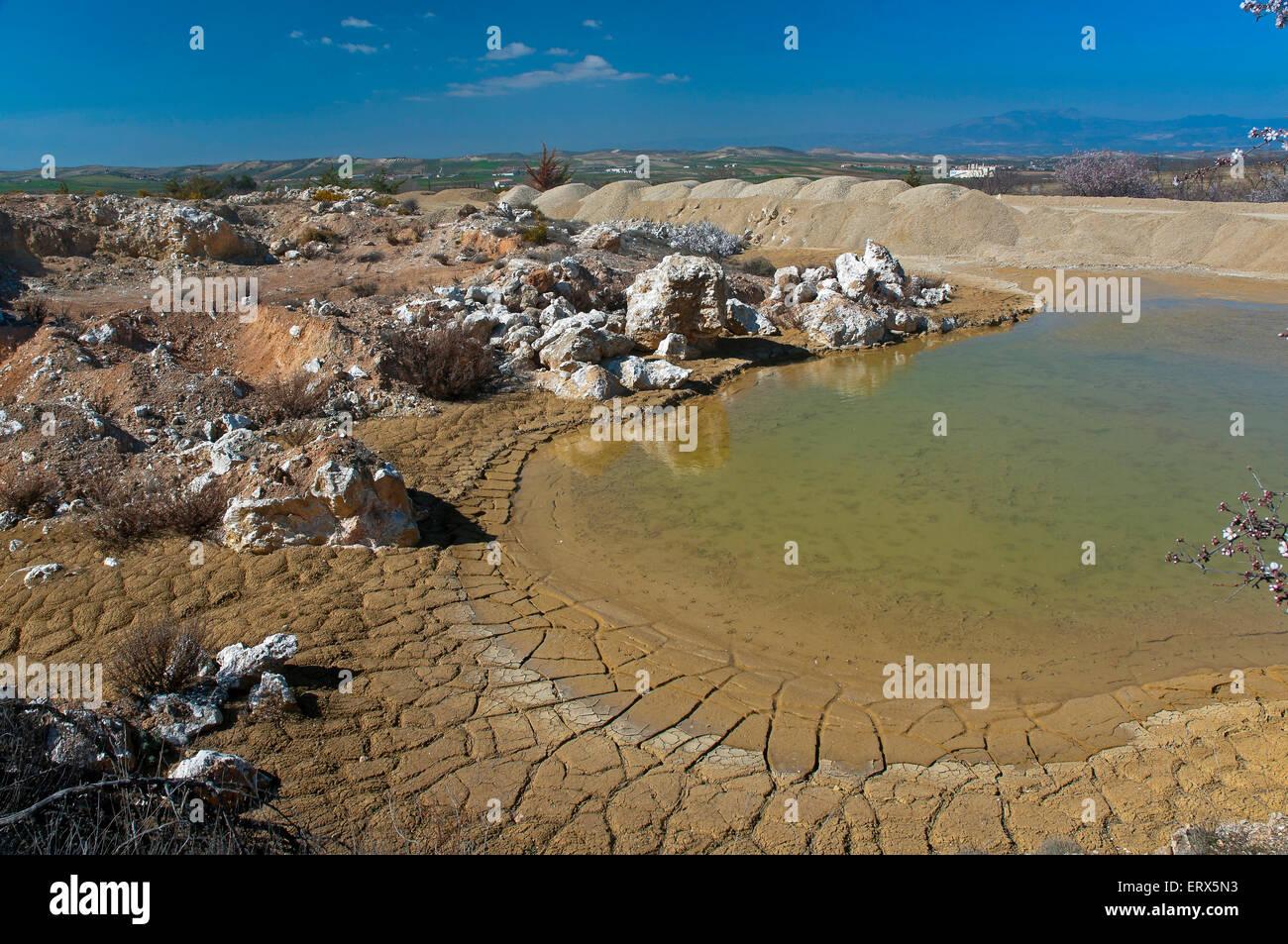 Celestine Mine Solvay, Escuzar, Granada province, Region of Andalusia, Spain, Europe - Stock Image