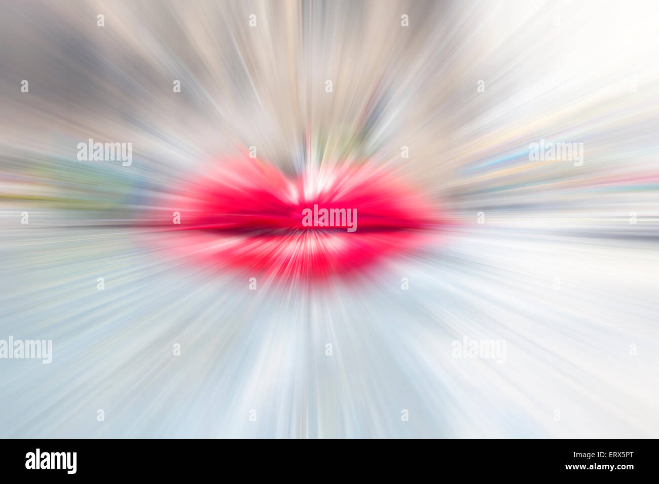 Motion blurred lips, abstract background. - Stock Image