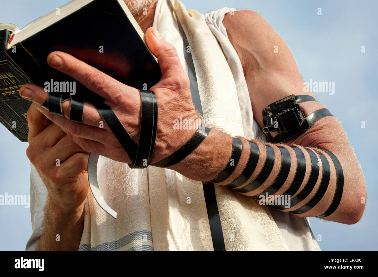 Jewish morning prayer - Stock Image