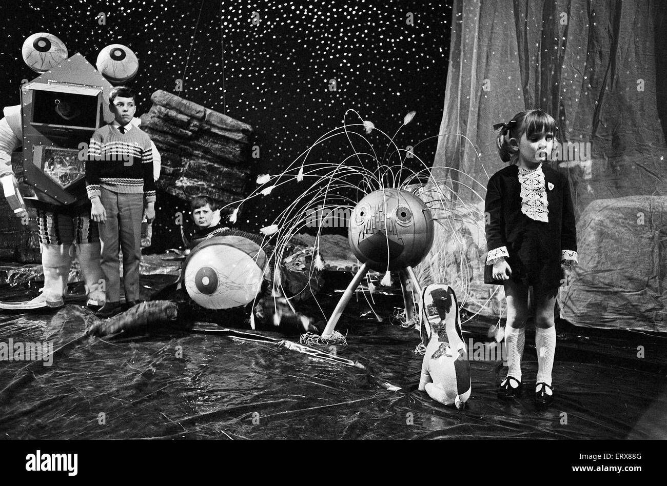 Dr Who Monster Competition organised by the BBC's Blue Peter children's programme at the BBC studio's. - Stock Image