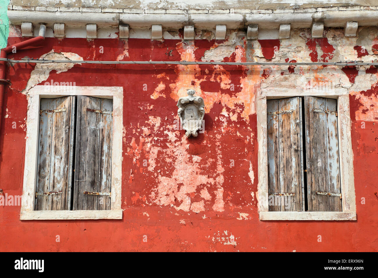Old colorful house, Burano island - Stock Image