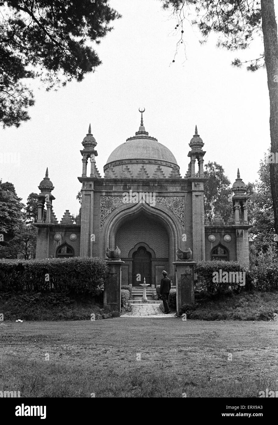 The Shah Jahan Mosque in Woking, Surrey.  The Mosque, built in 1889 by Dr Gottleib Wilhelm Leitner, was the first - Stock Image