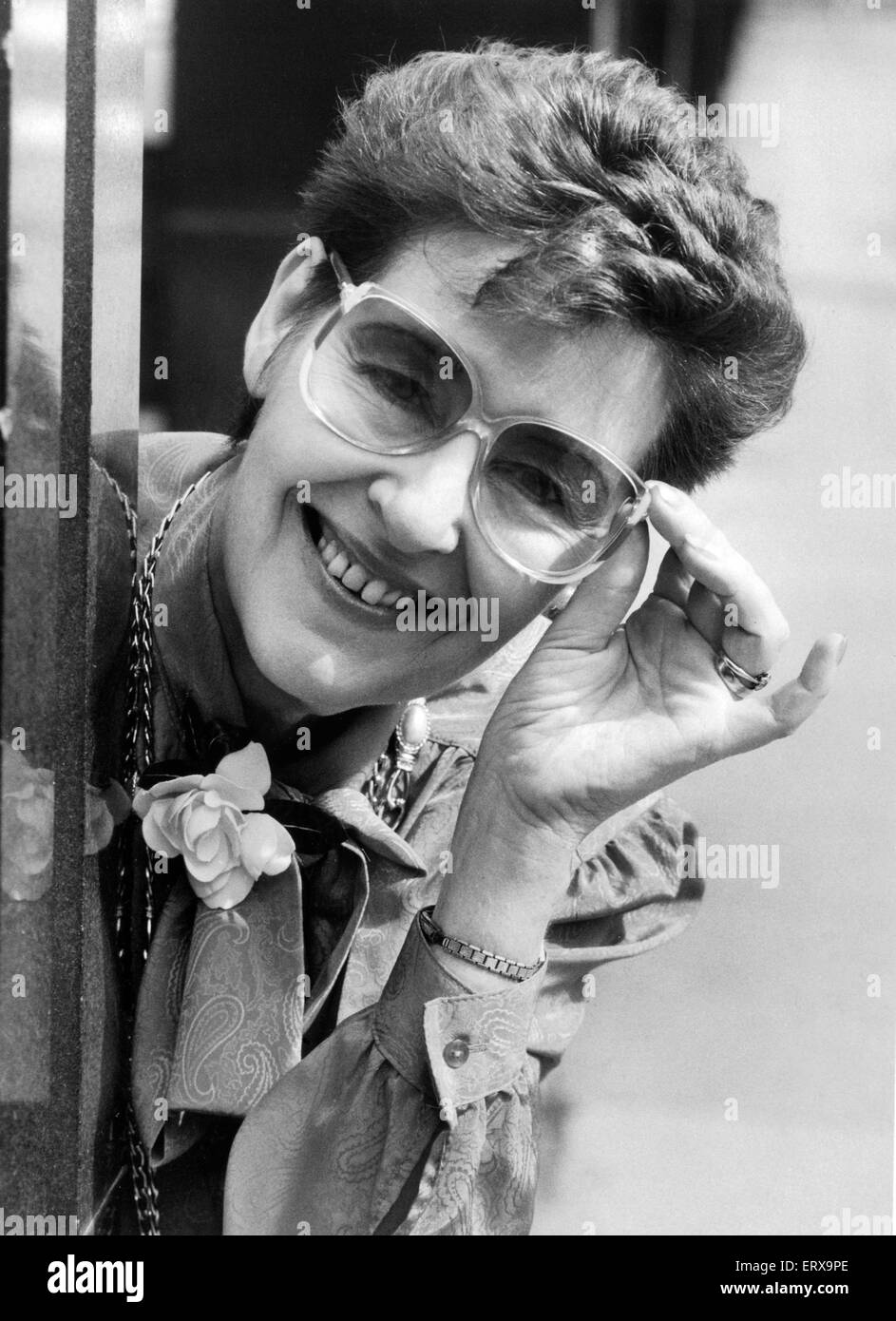 Birmingham Mail fashion editor Barbara Henderson. July 1986. - Stock Image