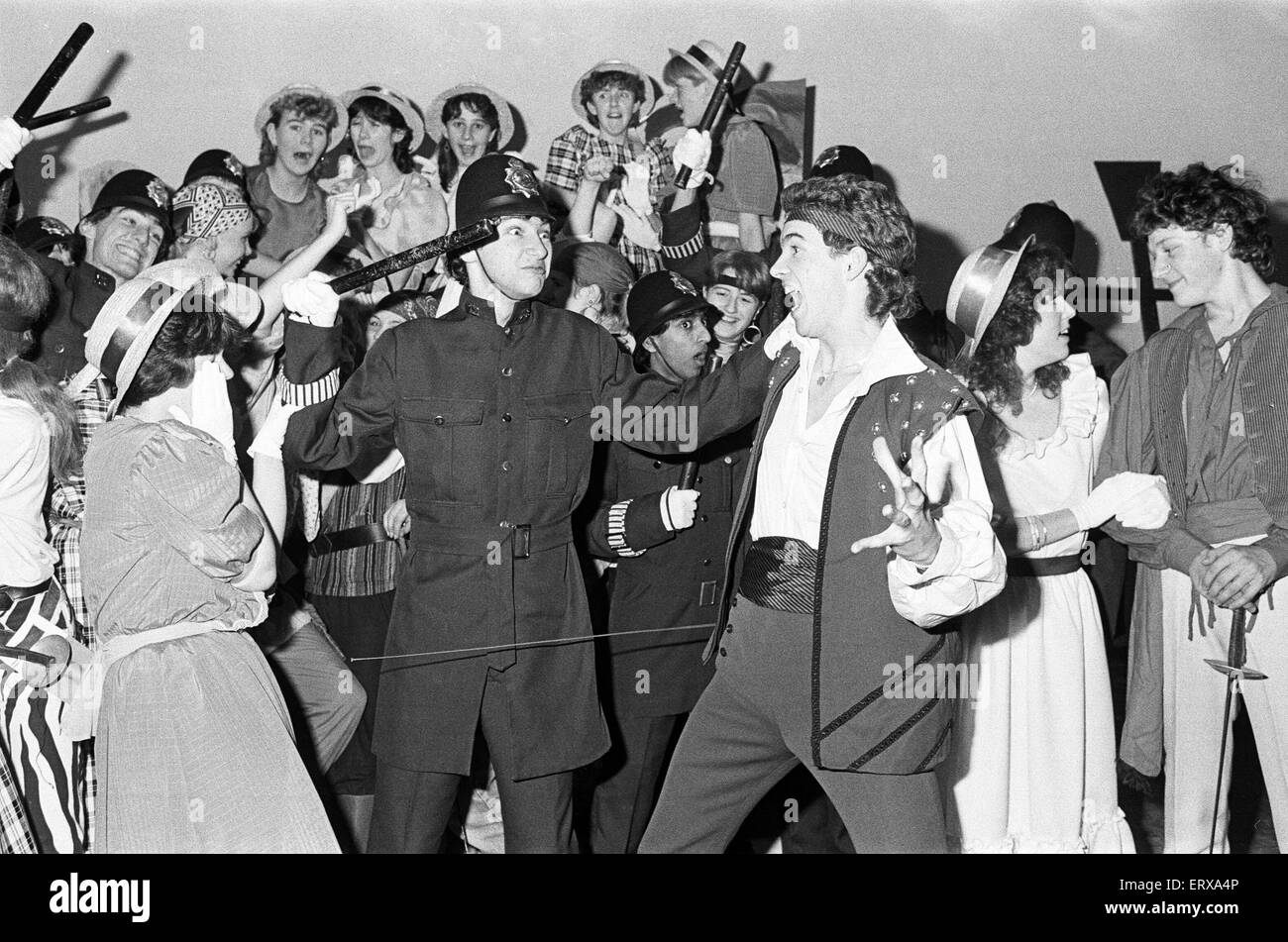 Huddersfield New College production of G&S Pirates of Penzance. 6th December 1985. - Stock Image