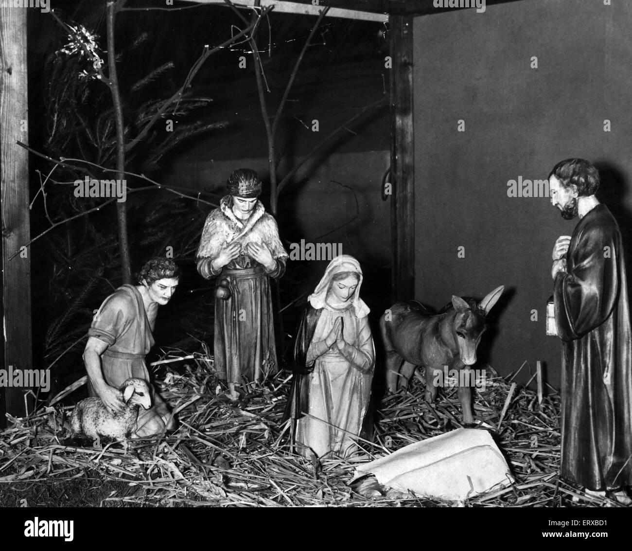 Nativity Scene, Published Cardiff Echo, 24th December 1959. - Stock Image