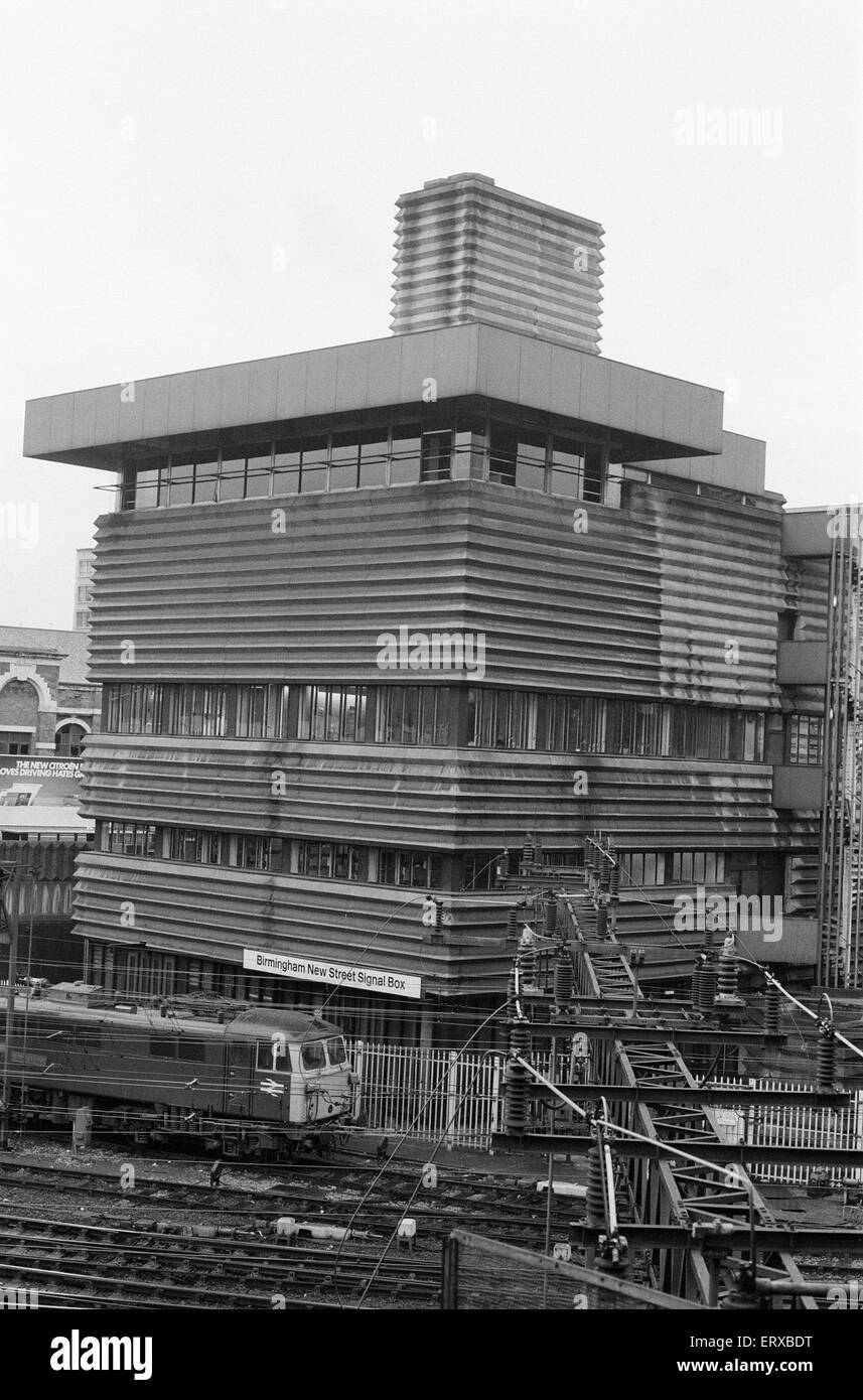 Signal Box, New Street Station, Birmingham, 3rd October 1983. - Stock Image