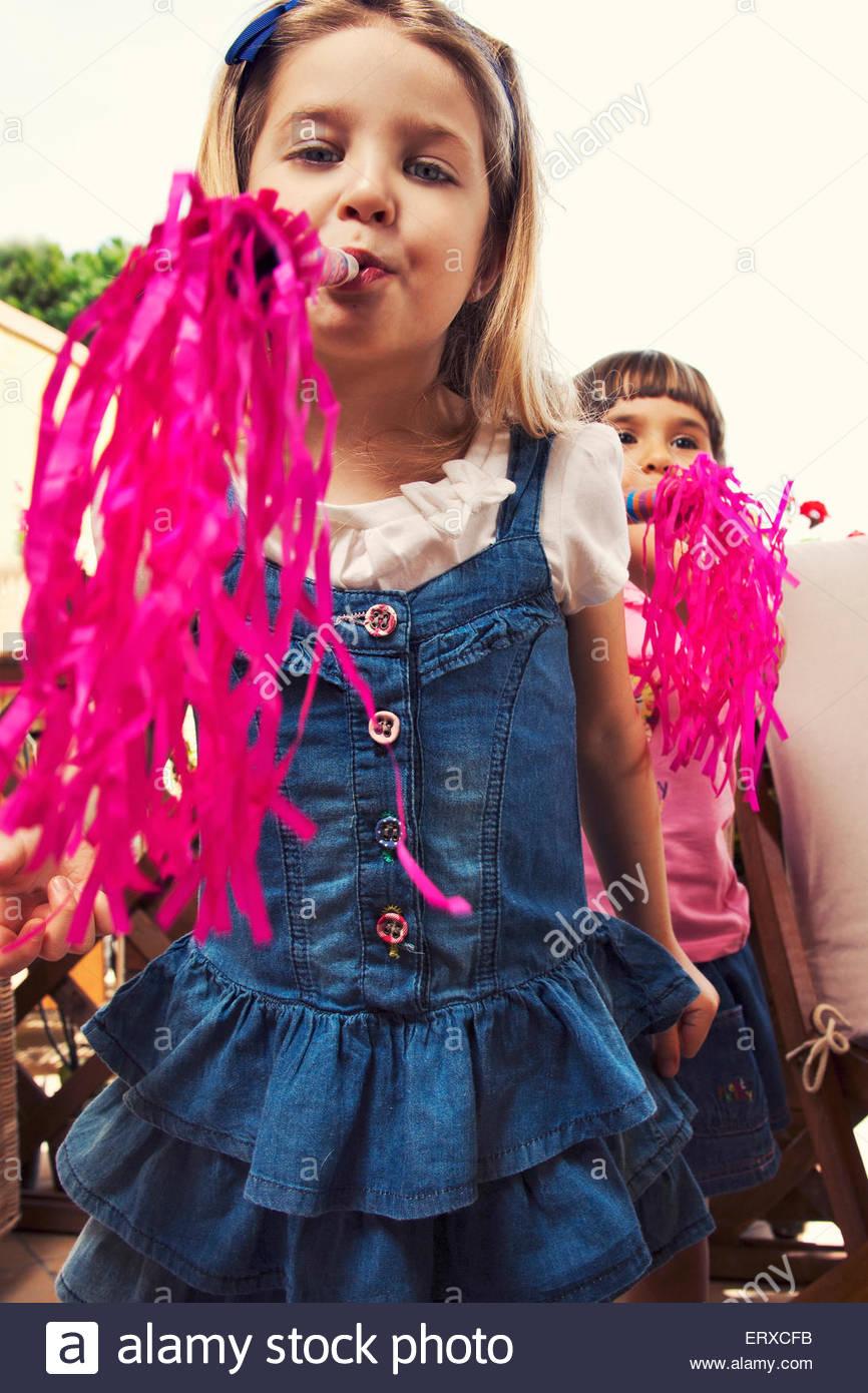 Girls birthday party - Stock Image