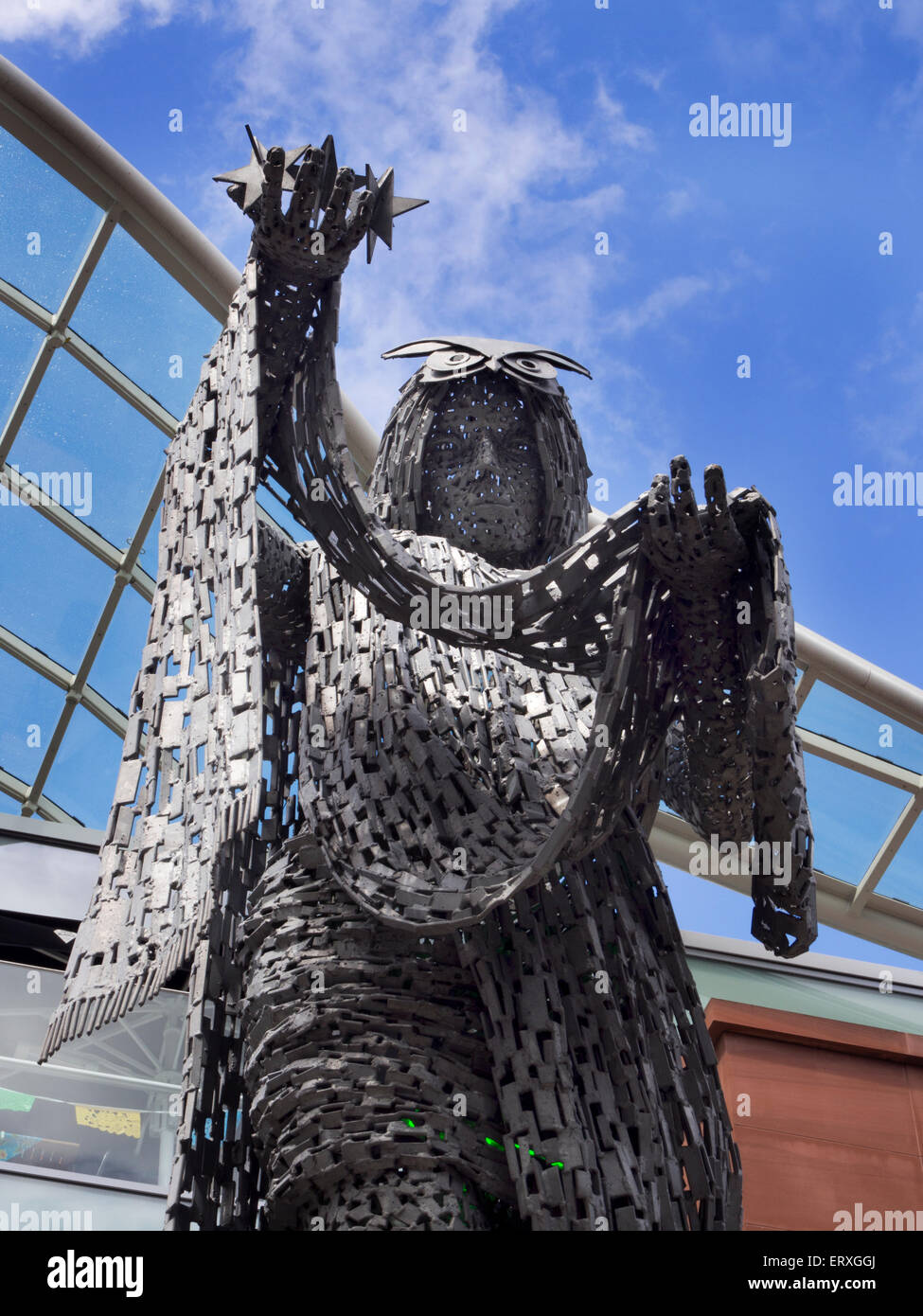 The Briggate Minera Sculpture by Andy Scott on Briggate Leeds West Yorkshire England - Stock Image